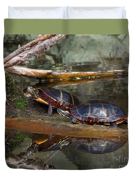 Two Turtles Duvet Cover