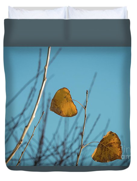 Duvet Cover featuring the photograph Two Warriors  by Ana V Ramirez