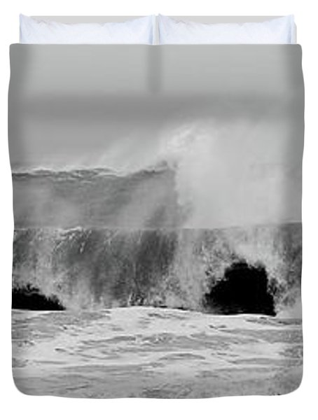 Two Waves Are Better Than One - Jersey Shore Duvet Cover
