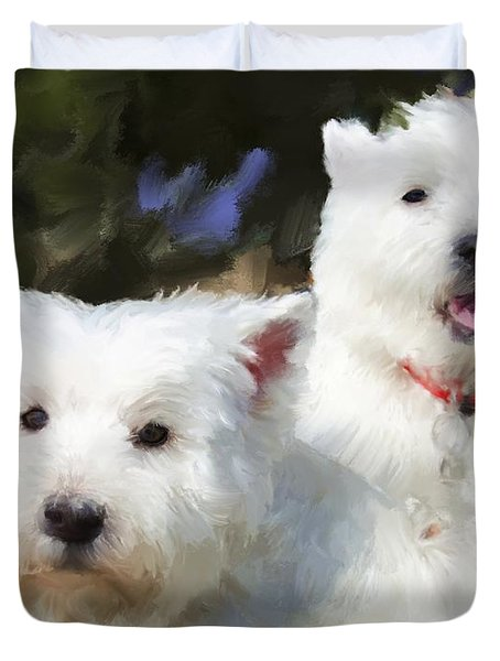 Two Westies Duvet Cover