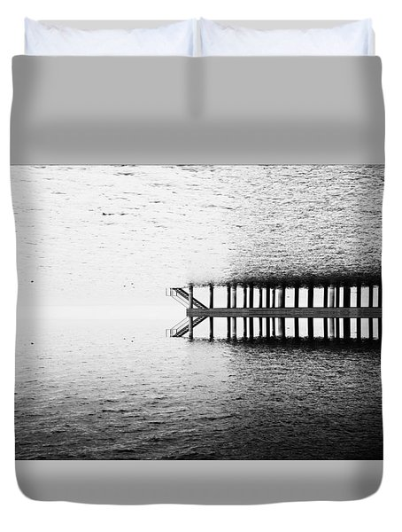 Duvet Cover featuring the photograph Two Worlds by Chevy Fleet