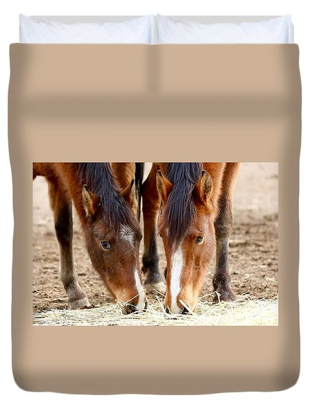 Two Young Friends Duvet Cover