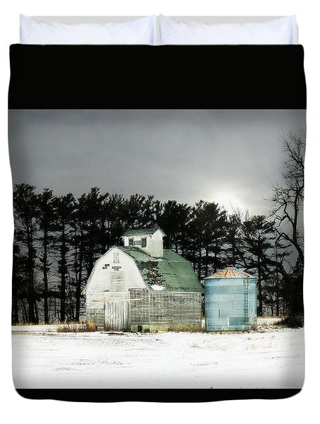 Duvet Cover featuring the photograph Twos Company by Julie Hamilton