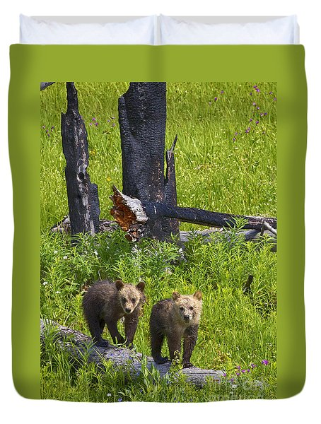 Duvet Cover featuring the photograph First Spring by Aaron Whittemore