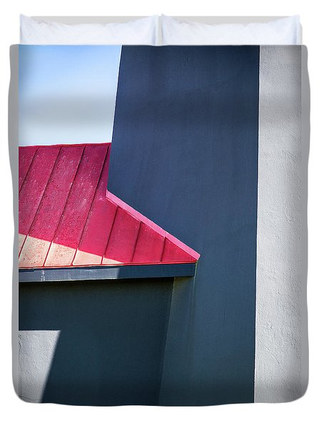 Tybee Building Abstract Duvet Cover