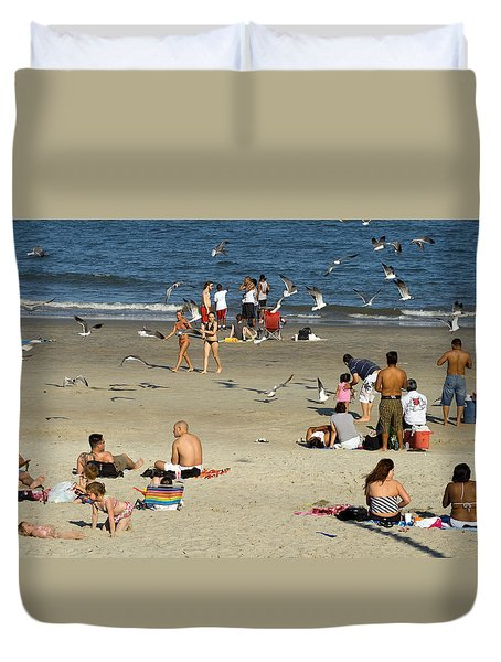 Tybee Island Beach Duvet Cover