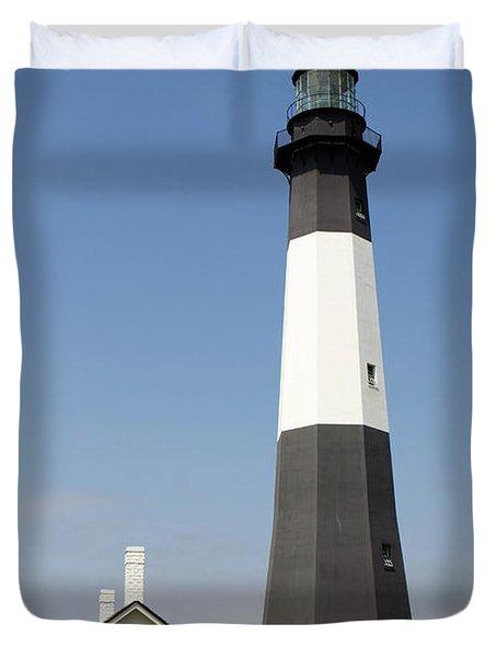 Tybee Lighthouse Georgia Duvet Cover
