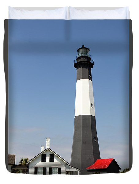 Duvet Cover featuring the photograph Tybee Lighthouse Georgia by Steven Frame