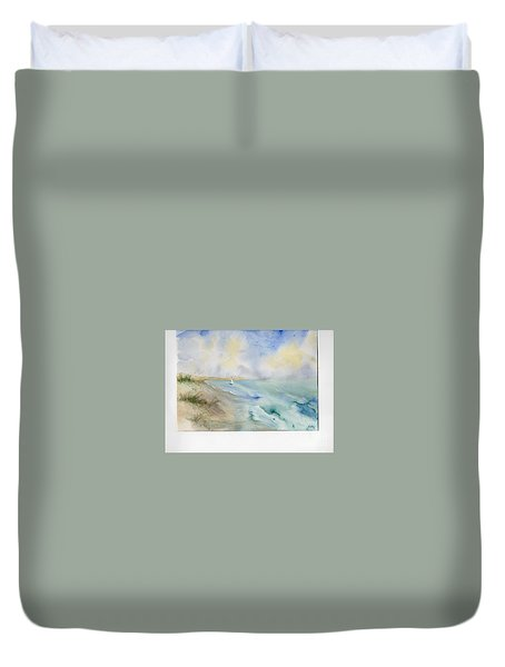 Tybee Memory Duvet Cover by Doris Blessington