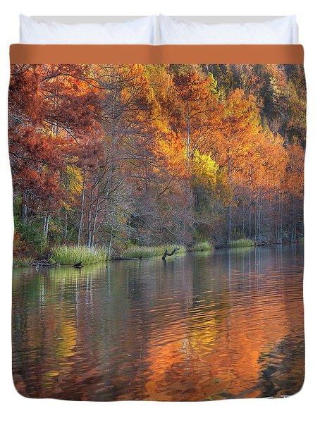 Tyler Lake Duvet Cover by Tim Fitzharris