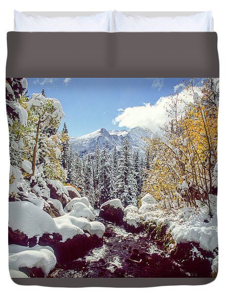 Tyndall Creek Duvet Cover by Eric Glaser