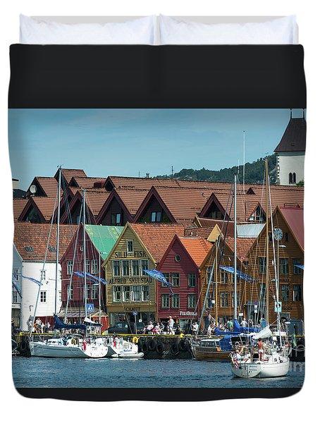 Tyske Bryggen Duvet Cover
