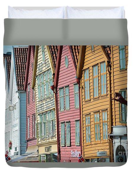 Tyske Bryggen, Bergen Duvet Cover