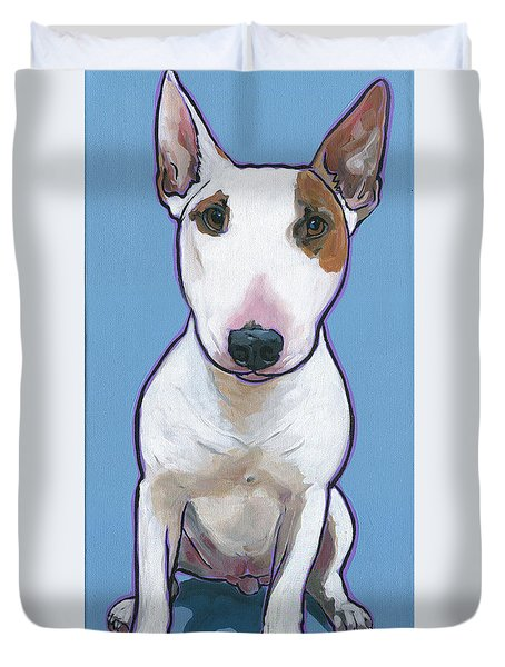 Duvet Cover featuring the painting Tyson by Nadi Spencer