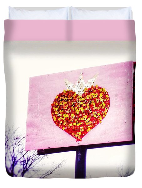 Tyson's Tacos Heart Duvet Cover