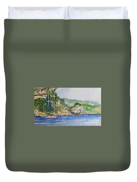 U Capu Biancu Duvet Cover