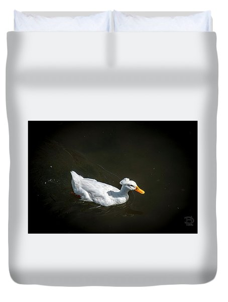 Duvet Cover featuring the photograph U Qwak Me Up by Daniel Hebard