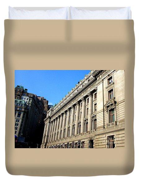 U S Custom House 1 Duvet Cover by Randall Weidner