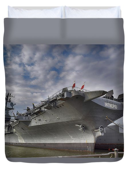 U S S  Intrepid     Duvet Cover