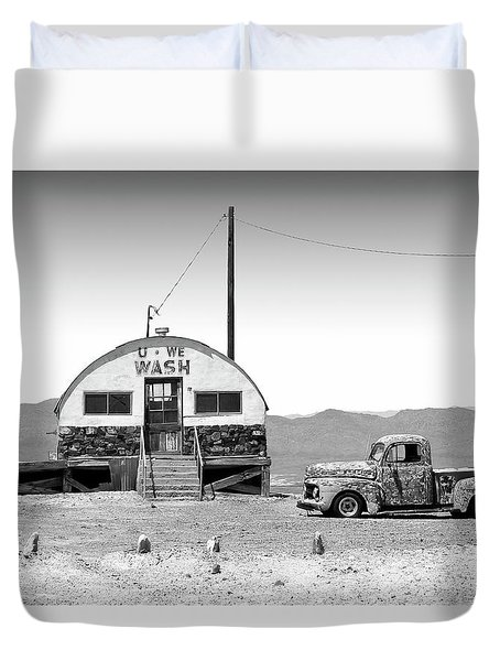 Duvet Cover featuring the photograph U - We Wash - Death Valley by Mike McGlothlen