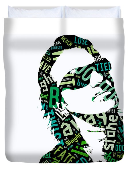 U2 Bono With Or Without You Duvet Cover