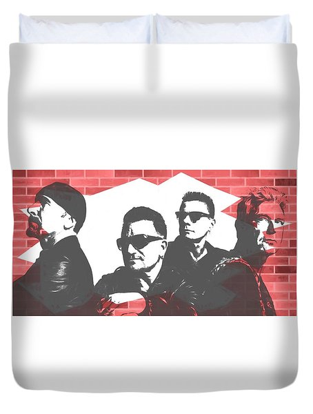 U2 Graffiti Tribute Duvet Cover