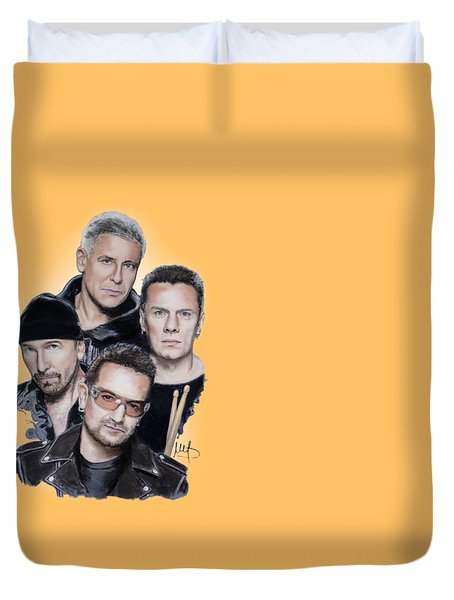 U2 Duvet Cover by Melanie D