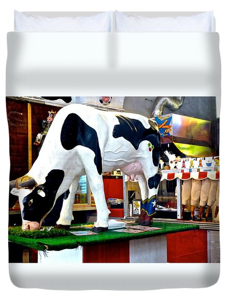 Udderly Unexpected Duvet Cover by Amelia Racca