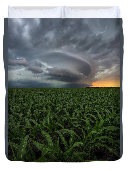 Duvet Cover featuring the photograph UFO by Aaron J Groen