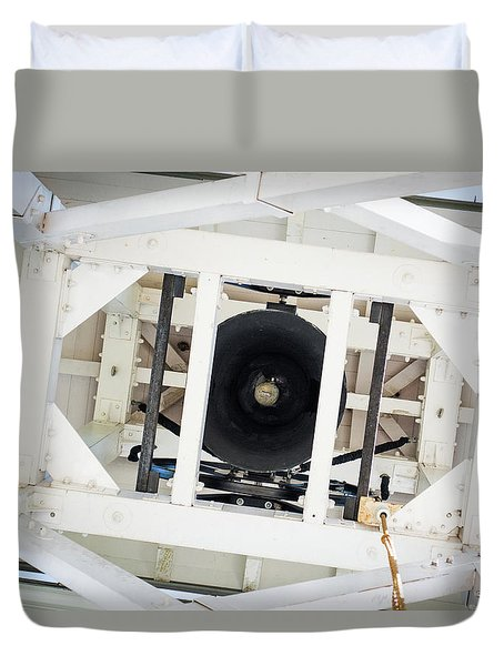 Duvet Cover featuring the photograph Uga Chapel Bell by Parker Cunningham