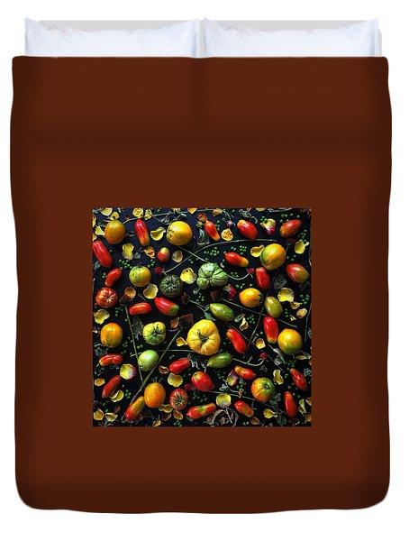 Heirloom Tomato Patterns Duvet Cover
