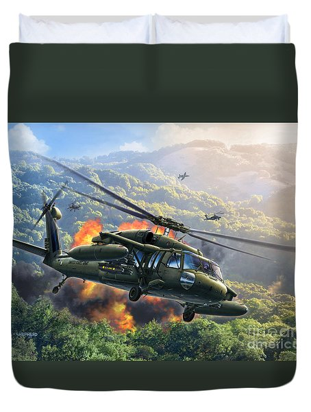 Uh-60 Blackhawk Duvet Cover
