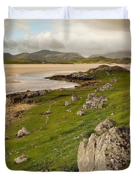 Uig Sands - Isle Of Lewis Duvet Cover