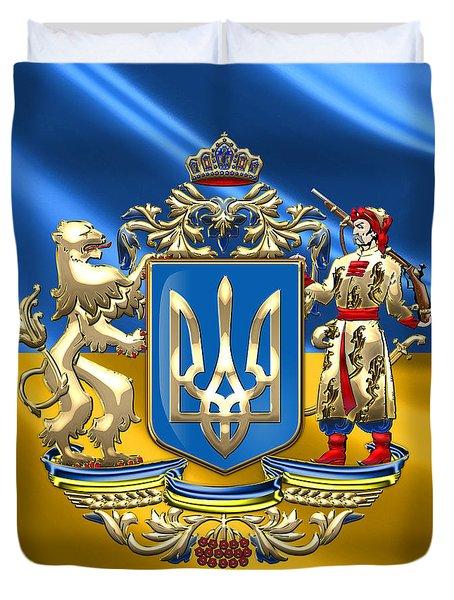 Ukraine - Greater Coat Of Arms  Duvet Cover