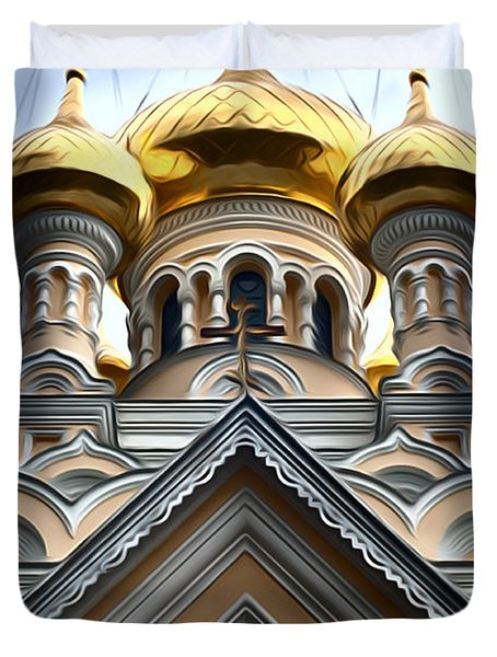 Ukrainian Church Duvet Cover
