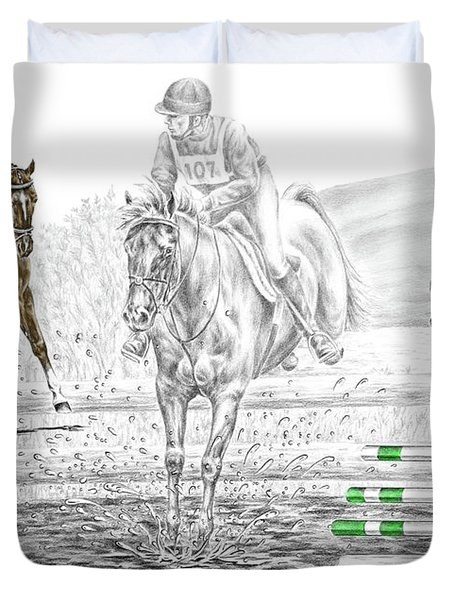 Ultimate Challenge - Horse Eventing Print Color Tinted Duvet Cover