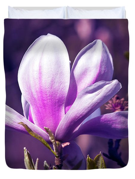 Ultra Violet Magnolia  Duvet Cover