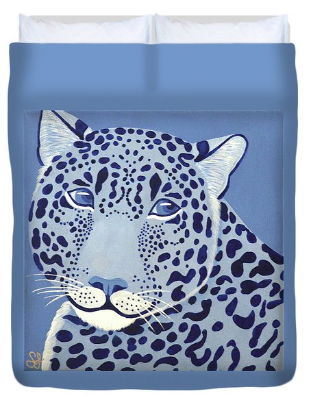 Ultramarine Jaguar Duvet Cover