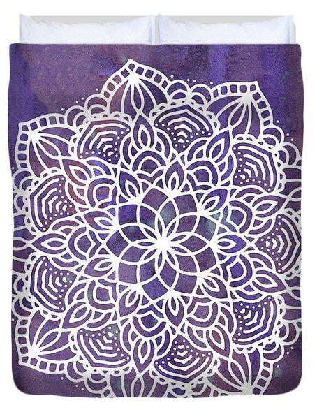 Ultraviolet Mandala Duvet Cover