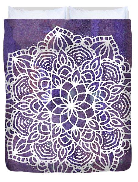 Duvet Cover featuring the digital art Ultraviolet Mandala by Bee-Bee Deigner