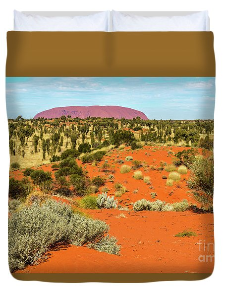 Duvet Cover featuring the photograph Uluru 01 by Werner Padarin