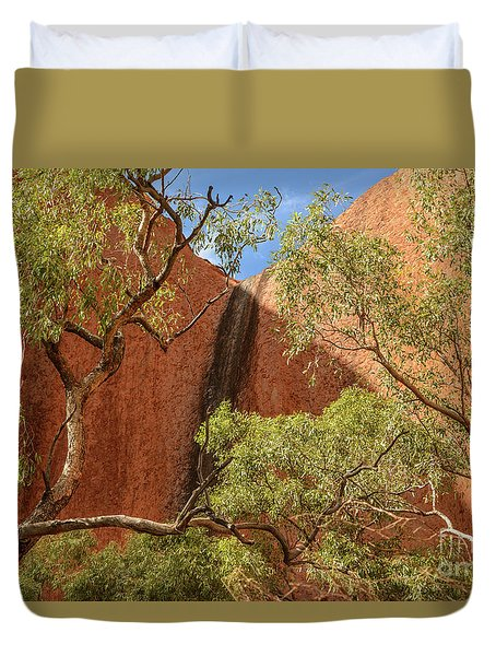 Duvet Cover featuring the photograph Uluru 02 by Werner Padarin