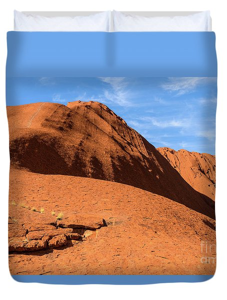 Duvet Cover featuring the photograph Uluru 04 by Werner Padarin