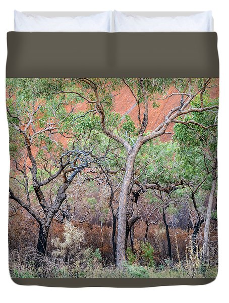 Duvet Cover featuring the photograph Uluru 05 by Werner Padarin