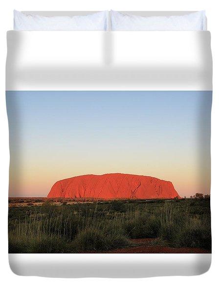 Uluru At Sunset Duvet Cover