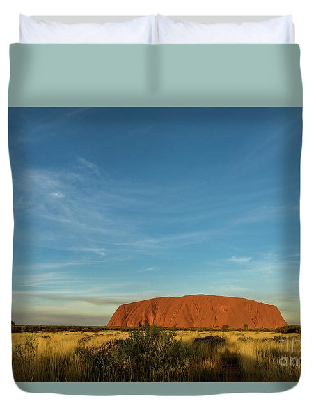 Duvet Cover featuring the photograph Uluru Sunset 01 by Werner Padarin