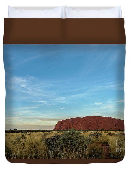 Duvet Cover featuring the photograph Uluru Sunset 02 by Werner Padarin