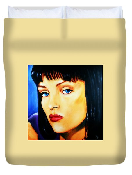 Uma Thurman In Pulp Fiction Duvet Cover