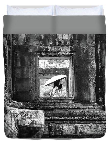 Umbrella Angkor Wat  Duvet Cover