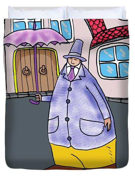 Umbrella Man Duvet Cover